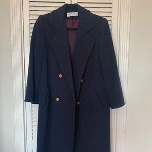 Vintage Pea Coat - Navy Blue - Medium/Large